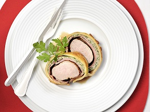 Pork fillet in dough