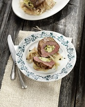 Agnello ai Carciofi  (lamb filled with artichoke and shallot)