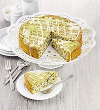 Almond cake with kale