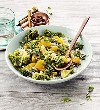 Oriental ragout with kale and pumpkin