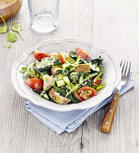 Tuscan bread salad with kale