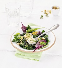 Kale salad with gratinated goat cheese