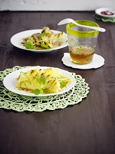 grilled pineapple with lime - tonka - sirup