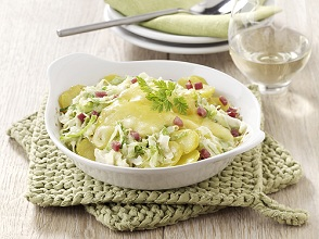 Potato gratin with cabbage