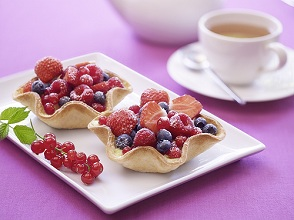 Tartlet with berries and crème pâtissière