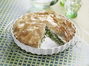 Spinach tarte with strudel top