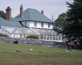 Exterior of Government House, Stanley, Falkland Islands, South America