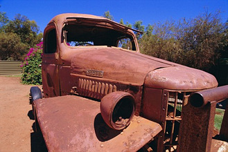 Red truck, Red Centre, Australia