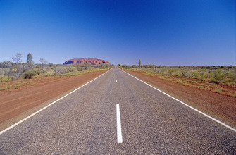 Road to Ayers Rock, Australia