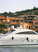 Yachts in the harbour, Porto Cervo, Costa Smeralda, island of Sardinia, Italy, Mediterranean, Europe
