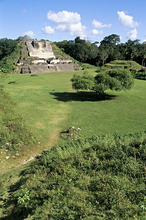 Temple of Masonry Altars, Altun Ha, Belize, Central America