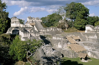 North Acropolis, Tikal, UNESCO World Heritage Site, Guatemala, Central America
