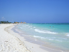 Beach, Playa del Carmen, Yucatan, Mexico, North America