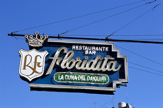Floridita restaurant and bar where Hemingway drank daiquiris, Havana, Cuba, West Indies, Central America