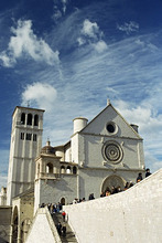 Basilica di San Francesco, where the body of St. Francis was placed in 1230, Assisi, UNESCO World Heritage Site, Umbria, Italy, Europe