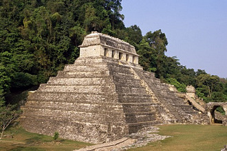 Temple of the Inscriptions, Palenque, UNESCO World Heritage Site, Chiapas province, Mexico, North America