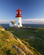Lindesnes Fyr lighthouse, southernmost point in Norway, Scandinavia, Europe