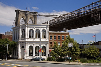 Fulton Historic District and Brooklyn Bridge, Brooklyn, New York City, New York, United States of America, North America