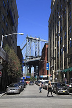 Manhattan Bridge, DUMBO, Brooklyn, New York City, United States of America, North America