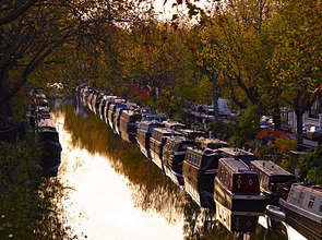 Canal boats, Little Venice, London W9, England, United Kingdom, Europe