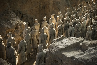 Warriors, Terracotta Army, UNESCO World Heritage Site, Xian, Shaanxi, China, Asia