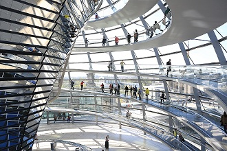 The Dome by Norman Foster, Reichstag Parliament Building, Berlin, Germany, Europe