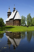 Church of the Gracious Saviour, built 1712, Museum of Wooden Architecture, Kostroma, Kostroma Oblast, Russia, Europe
