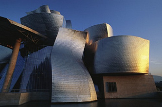 Guggenheim Bilbao Museum by Architect Frank Gehry, Bilbao, Province of Biscay, Basque Country, Spain