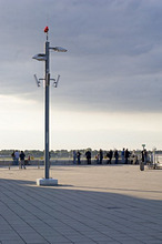 Visitors terrace in front of the airfield, Duesseldorf Airport, Duesseldorf, North Rhine-Westfalia