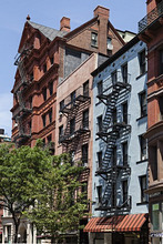cast Iron buildings in Brooklyn Heights, Clark Street, Brooklyn, New York, USA