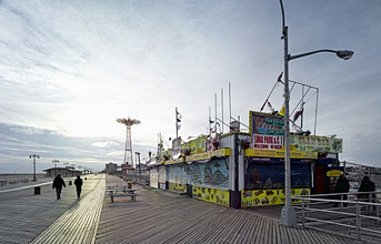 Promenade at Coney Island, Brooklyn, New York City, New York, North America, USA