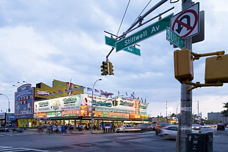 Nathan's Famous Frankfurters, Surf Avenue, Coney Island, Brooklyn, New York City, New York, North America, USA