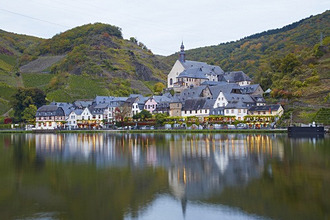 View of Beilstein in the evening, Mosel, Rhineland-Palatinate, Germany, Europe