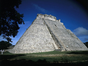 Mexico, Yucatán, Uxmal, Ruinenstätte, 'PyramidedesZauberers' *** Local Caption *** 01319882
