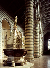 Italy, Umbrien, DomvonOrvieto, detail, baptismal font *** Local Caption *** 01886505