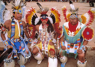 USA, New Mexico, Kiowa-Indianer, Federschmuckno model releaseAmerika *** Local Caption *** 01943707