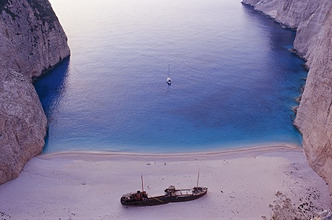 Greece, Ionian Islands, Zakynthos, Shipwreck-Beach *** Local Caption *** 03679635