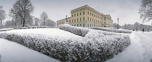 Norway, Oslo, Königsschloss, parkway, winter *** Local Caption *** 03717722