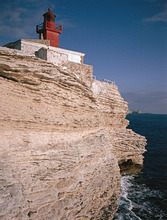 France, Corsica, Bonifacio, Felsküste, Leuchtturm'LaMadonetta' *** Local Caption *** 03717769