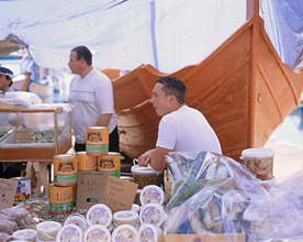 island Malta, Marsaxlokk, stall, fisherman *** Local Caption *** 03724930