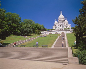 France, Paris, Montmartre, Sacre-Coeur, stair, tourist *** Local Caption *** 03739837