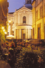Italy, Roma, Via della Pace, Strassencafe *** Local Caption *** 03740747