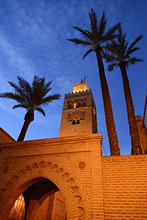 Africa, Morocco, Marrakech, Koutoubia Mosque in the evening, mood