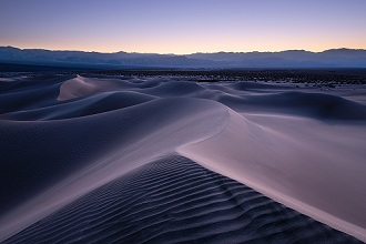 USA, America, California, Death Valley, dunes, Mesquite, blue, hour, mood, dusk, after, sunset, structure, panorama, landscape