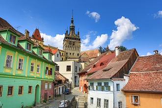 Romania, Mures County, Sighisoara City, The Citadel, Clock Tower