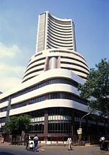 India, Maharashtra, Mumbai, Dalal, Street, stock exchange,Series, Asia, South Asia, buildings, construction, architecture, perspectives, stick Exchange, economy, trade, investment market, stock market, finance market,