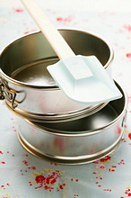 Cake tins with spatula