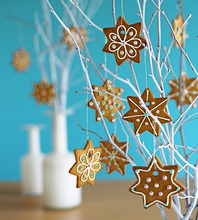 Ginger biscuits as Christmas decorations