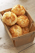 Coconut Macaroons in a Wooden Box