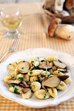 Gnocchi with porcini mushrooms